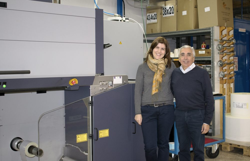 máquina inkjet en las instalaciones de Jeci