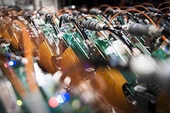 Cabezales de nuestros sistemas de impresión Durst WT para ilustrar el artículo Tintas Durst WT.