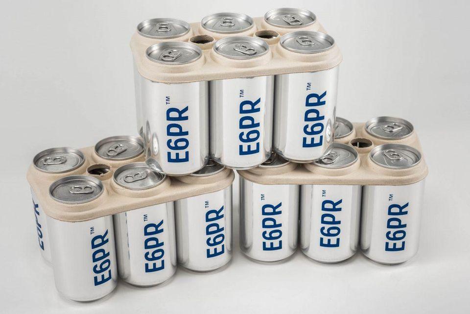 Imagen de 6-pack ring elaborado a partir de materiales biodegradables.