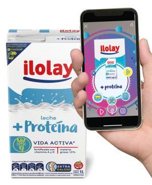 diseño de brick de leche junto a móvil, en el que se muestra como el diseño del packaging puede aumentar la experiencia del consumidor gracias a la realidad aumentada.