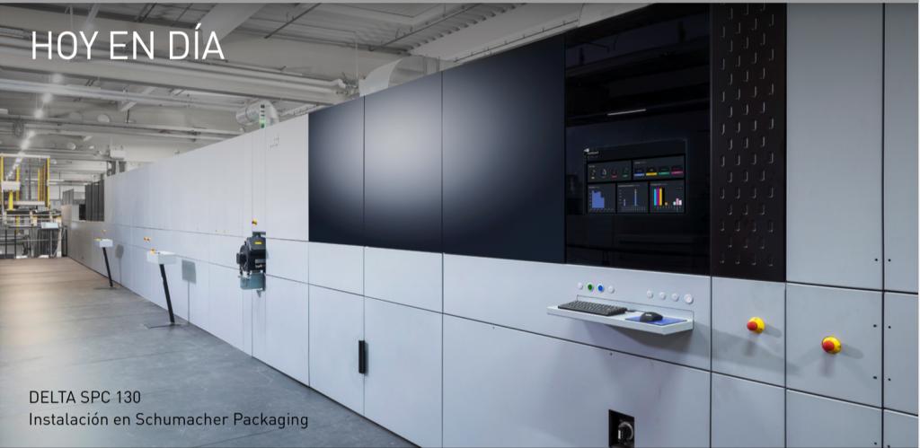 Uno de las líneas Delta SPC 130 de Durst instalada en nuestro cliente Schumacher Packaging.